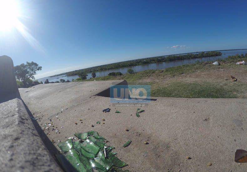 La vista al río Paraná es una de las mejores en la ciudad. Foto / UNO. Juan Manuel Kunzi.