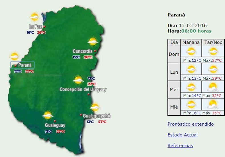 Domingo soleado con una máxima de 27 grados en la provincia