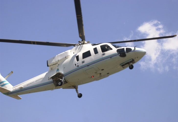 El helicóptero que transportaba al presidente Macri estuvo muy cerca de chocar