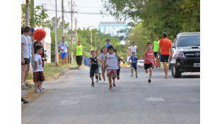 Paraná tiene una sola carrera barrial para niños y niñas y se realiza en La Floresta. Foto UNO/ Juan Manuel Hernández.