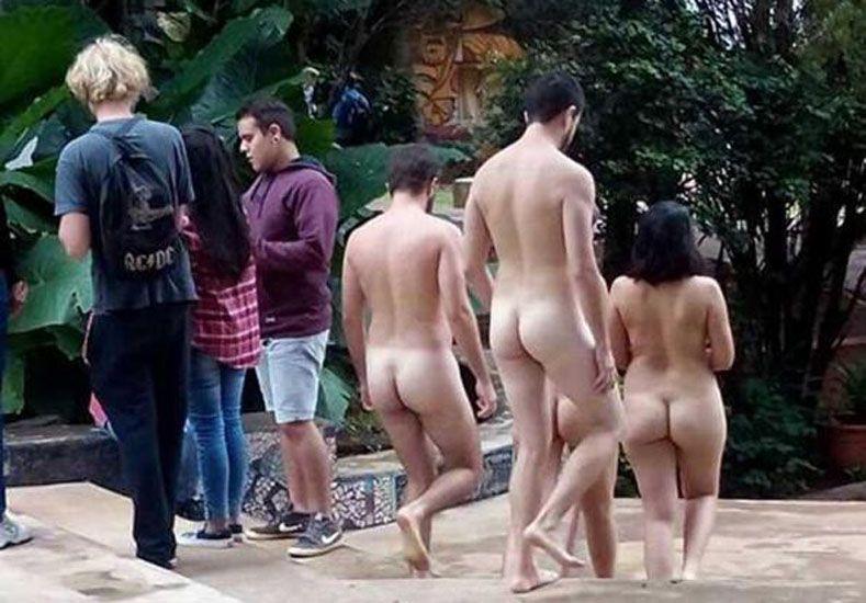 Estudiantes se pasearon desnudos por una facultad