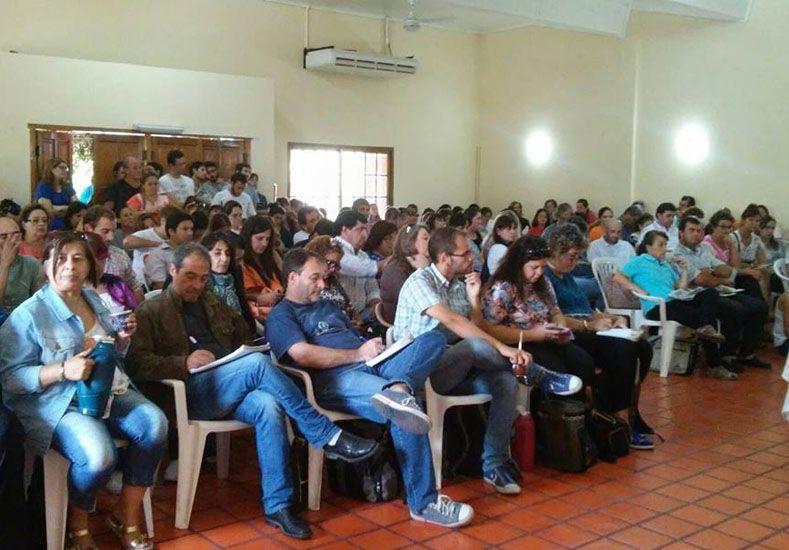 Foto: Congreso Extraordinario del 2 de marzo en Colón. (Foto: Agmer)