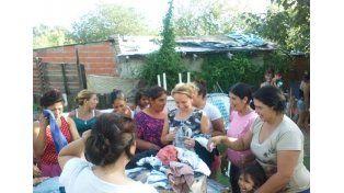 Labor solidaria. Lo entregado se recolectó en un festival.  Foto Gentileza/Vecinos por Puerto Viejo