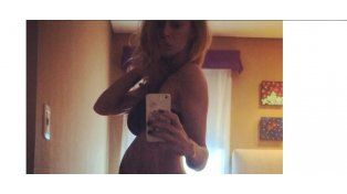 Vanina Escudero mostró su pancita de embarazada en ropa interior