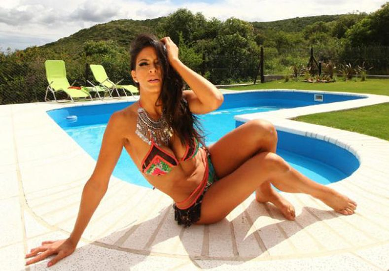Celeste Muriega protagonizó un blooper hot