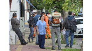 Denuncian posible foco del vector del dengue en calle Uruguay