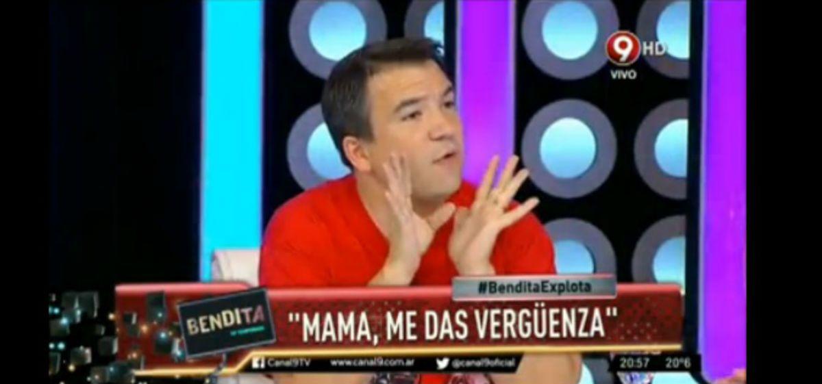 Recondo explotó a los gritos por la polémica foto de Gisela Bernal y su hijo desnudos