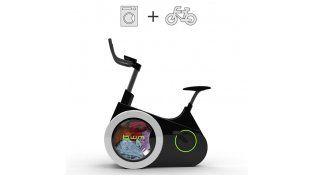 Diseñan una bicicleta fija que lava la ropa con la energía que genera cada pedaleo