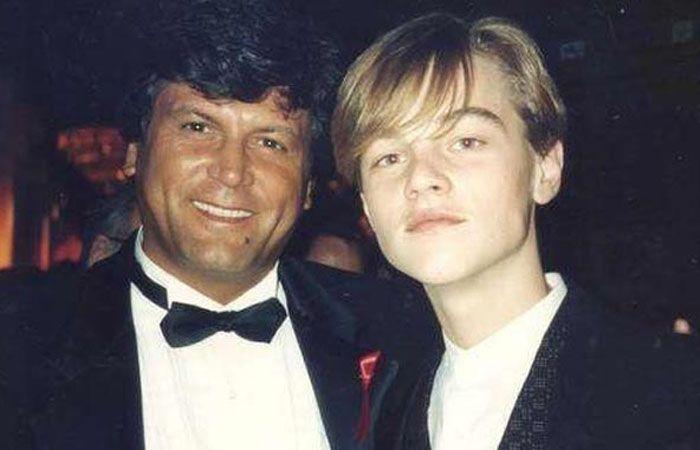 Carlos Calvo y un joven DiCaprio