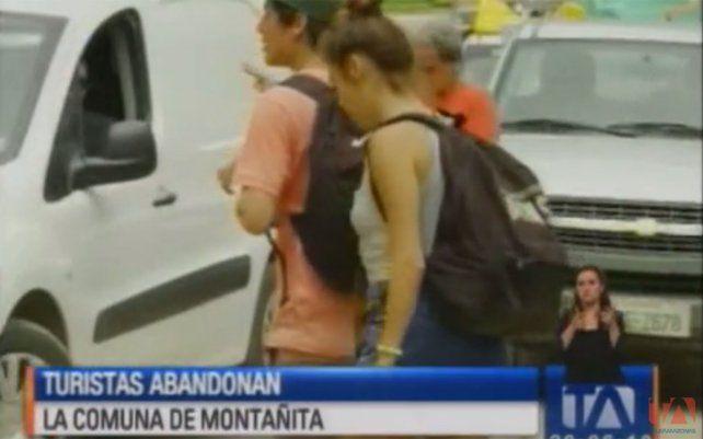 Los turistas se van de Montañita tras el doble femicidio