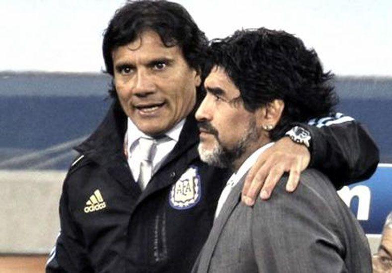Enrique y Maradona.