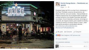 En un bar de Palermo prohibieron hablar de Cristina Kirchner