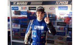 El piloto uruguayense ganó por primera vez la final del TC Pista Mouras ayer en La Plata.