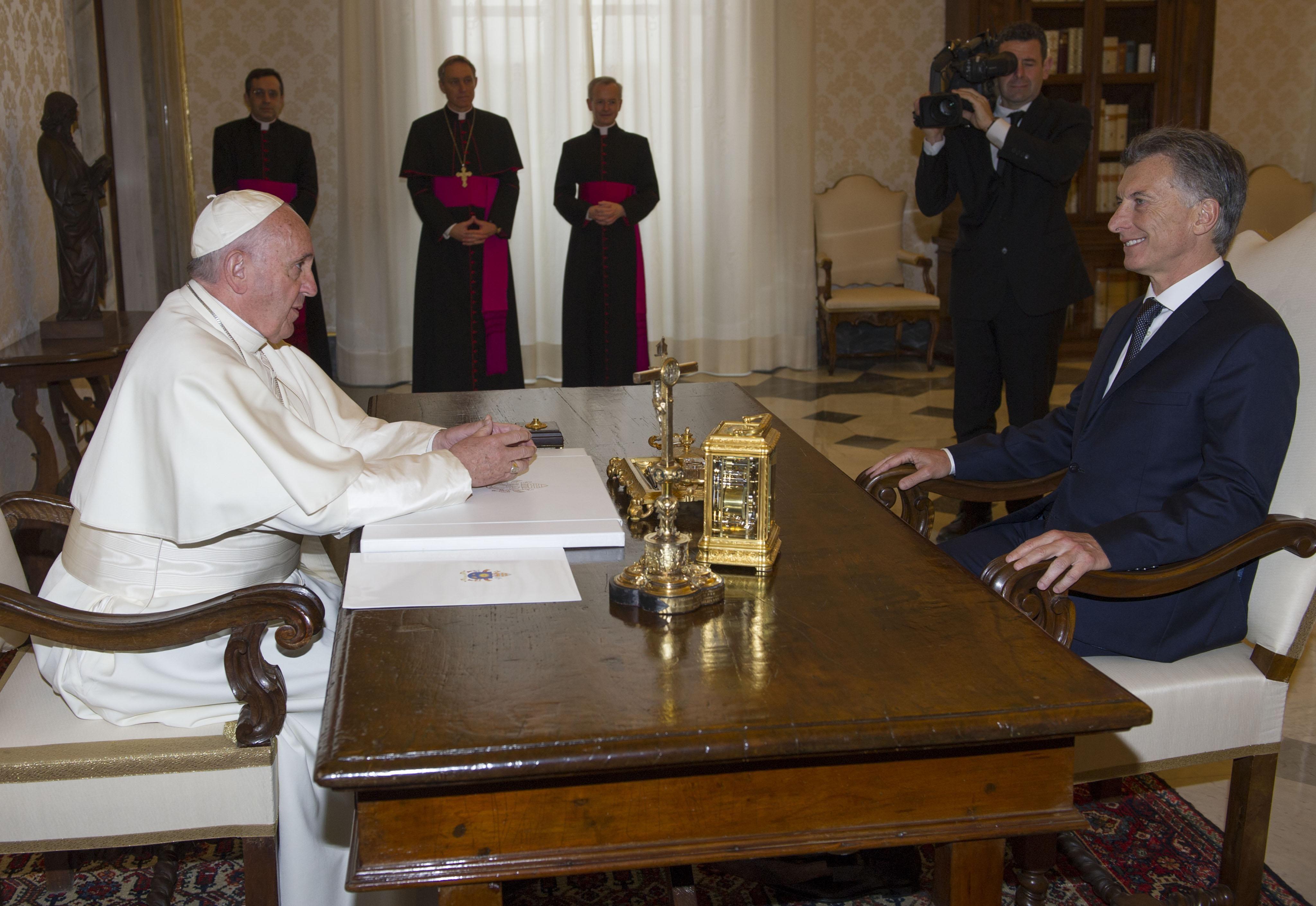 El presidente argentino y el líder de la Iglesia Católica