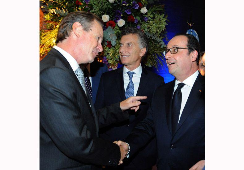 Bordet se reunió con el presidente francés