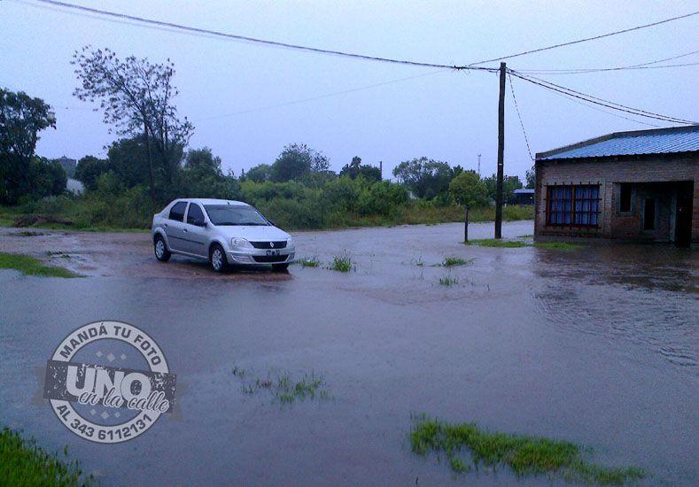 En Villaguay también se anegaron las calles