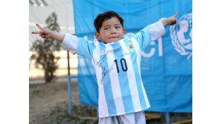 El niño afgano vio hoy cumplido uno de sus mayores sueños.