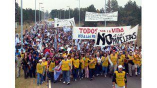 Protesta. Movilizó a la comunidad de Gualeguaychú.