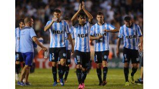 Racing dio cátedra en Avellaneda y goleó a Bolívar en su debut en la Copa.   Foto: Télam