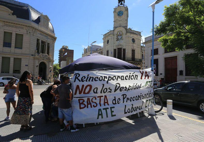 Ate reclama la reincorporación de 90 contratados. Foto: UNO/Diego Arias