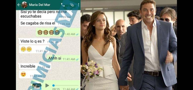 La conversación de Whatssap que releva que la esposa de Matías Alé le fue infiel