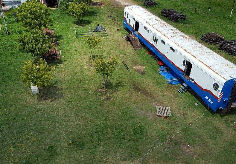 El vagón de La Moringa en donde se arma la cantina con toda sus delicias. Foto/ Agu Izquierdo.
