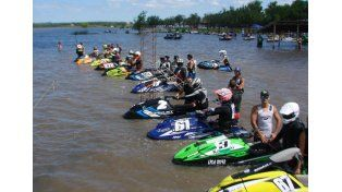 Las motos de agua estarán formando parte de la tercera fecha del torneo nacional.