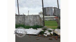 Tormenta en Paraná: Así quedó el club Peñarol