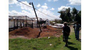 El parque hortícola de Paraná también sufrió consecuencias por el temporal