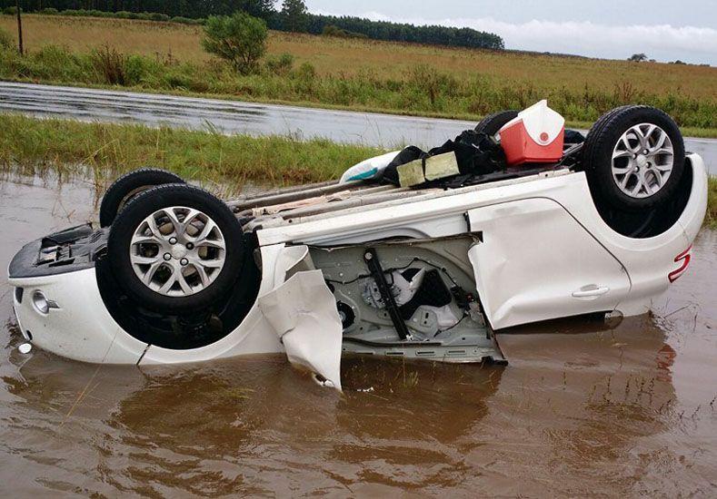 Por el temporal hubo numerosos accidentes en las rutas entrerrianas