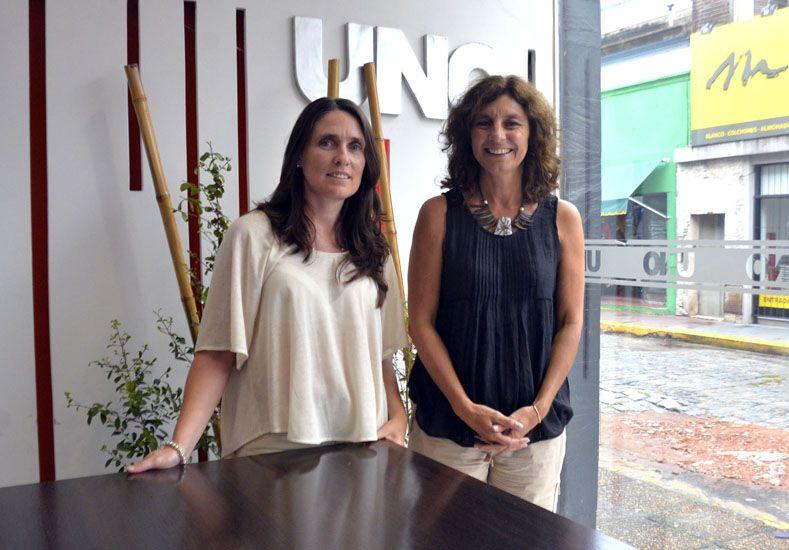 Propuesta. Villagra y Salazar hablaron de la oferta académica.  Foto UNO/Mateo Oviedo