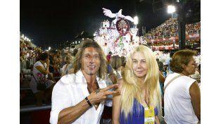 La reaparición del Pájaro Caniggia y Mariana Nannis: la pasan bomba en Brasil