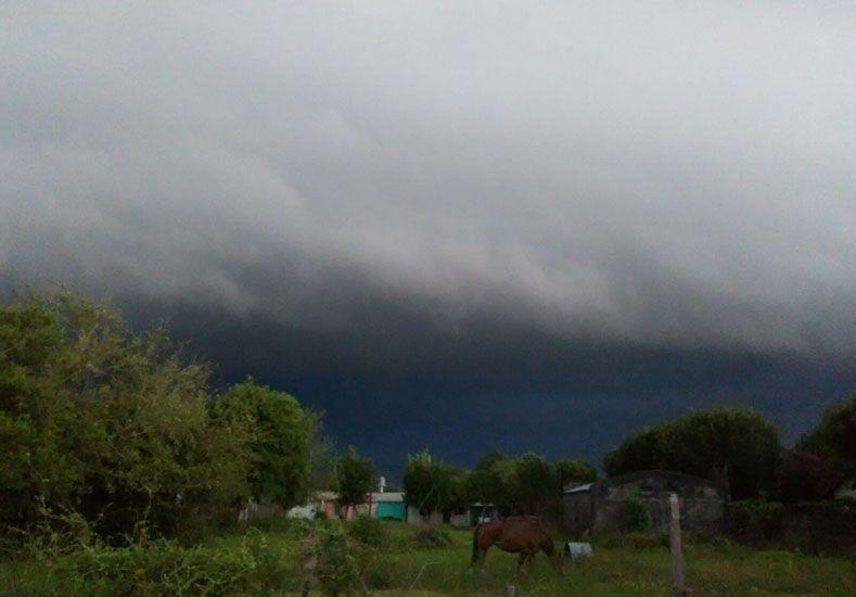 La tormenta en Conscripto Bernardi