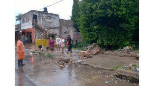 Vecinos de calle Laurencena. (Foto: LT14)
