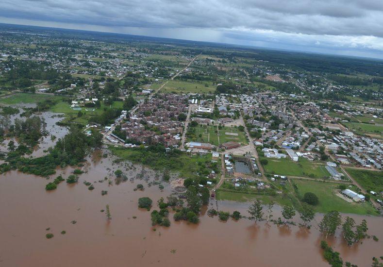 Se recupera. Concordia resultó la ciudad más afectada por la crecida del río Uruguay.   Foto: Internet ilustrativa