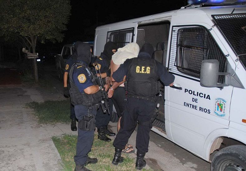 Investigación. No está confirmado que el detenido sea el autor.   Foto Gentileza/El Día Gualeguaychú