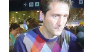 Guillermo Barros Schelotto en Ezeiza.  Foto: Captura de TV
