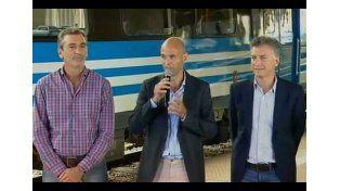 Macri inauguró obras ferroviarias con Florencio Randazzo y le agradeció por su gestión
