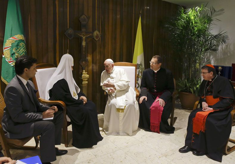 Histórico encuentro en Cuba entre el papa Francisco y el patriarca ortodoxo ruso