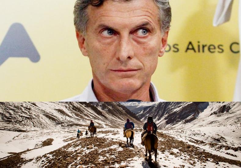 A lo San Martín: Macri cruzará los Andes en mula