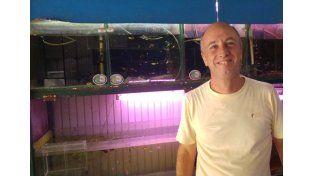 Acuicultor. Gustavo Pross estudió la carrera en Diamante y quiere incursionar en la cría de peces.
