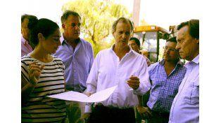 Bordet y Varisco recorrieron las obras del Centro de Convenciones de Paraná