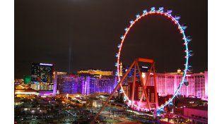 La rueda de la fortuna es una de las principales de Las Vegas.