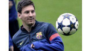 Messi volvería a entrenar con sus compañeros el próximo jueves y estaría en condiciones de jugar contra el Celta del próximo domingo.  Foto: Télam