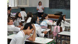 Los docentes vuelven al aula.  Foto UNO/Archivo ilustrativa