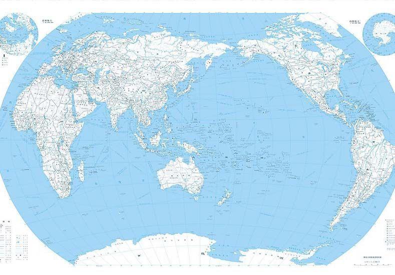 Planisferio. Desde el Pacífico cambia la mirada sobre el Abya yala.