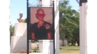 Dañaron imagen de Eva Perón en Chajarí