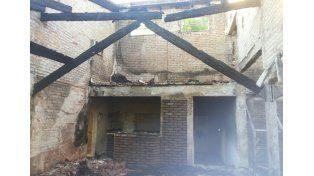 Se incendió una vivienda en calle Garrigó