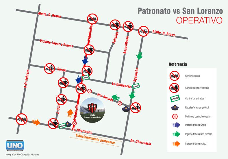Este es el plano que los vecinos de Patronato tienen que guardar