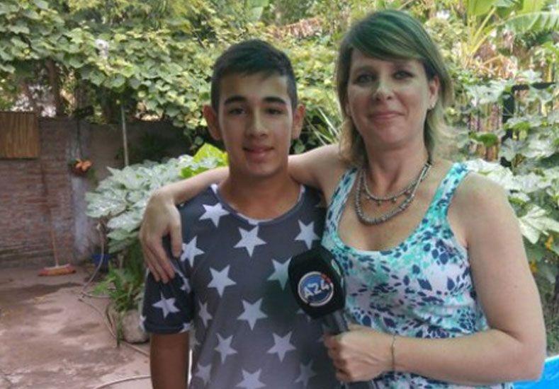 Juan Cruz Americe tiene apenas 15 años.